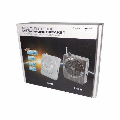 Rádio Multifunções Megaphone Speaker, Fm, Tf Card, Usb K150