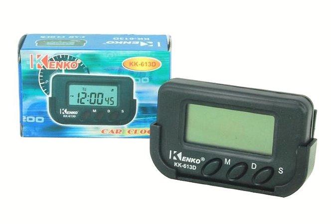 Relógio Digital Pra Carro Com Despertador, Cronometro Painel
