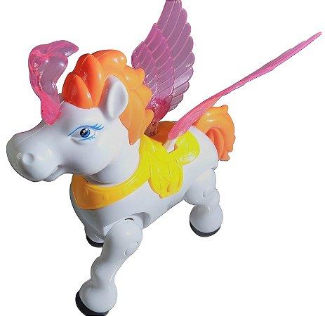 Pegasus de brinquedo Anda e Meche As Asas, Veilodon Small Pegasus Com Luzes