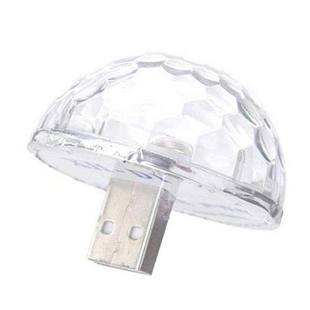 Mini Lampada Usb Ritmica , Luz Colorida Controle De Som