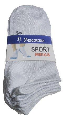 Kit 12 Pares De Meia Masculina Soquete Amorarma Sports 38-46