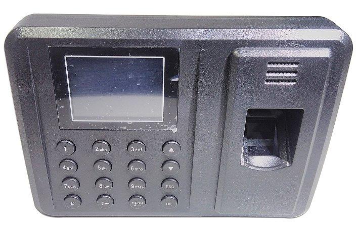 Ponto Biométrico De Digital Eletrônico Com Relógio Tela Lcd
