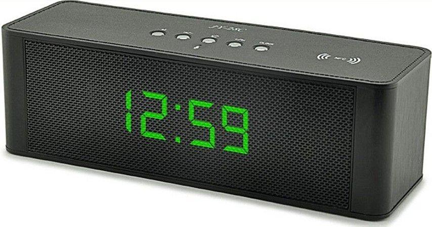 Caixa De Som Portátil Bluetooth Speaker Com Horário Jy-28c