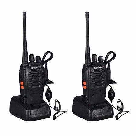 Radio Comunicador Walk Talk 2km Baofeng Bf588 Com Fone