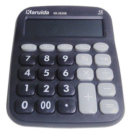 Calculadora Eletronica Karuida Botões Redondos 12 Digitos