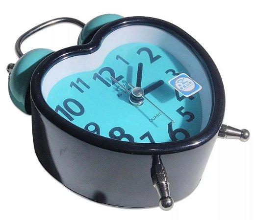 Relógio Despertador Analógico Coração Som Alto 2 Sinos A30