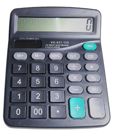 Calculadora Eletrônica De Mesa Solar 12 Digitos Kk-837-12s