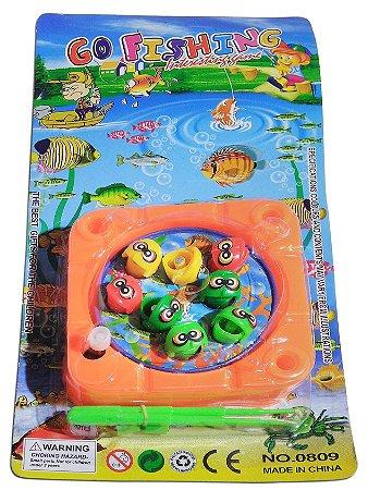 Jogo De Pesca Pega Peixe Brinquedo De Pescaria 8 Peixes