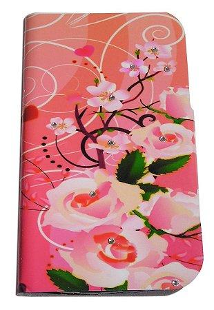 Capa Para Samsung Gran 2 G7102 ( Abre E Fecha ) Case Floral