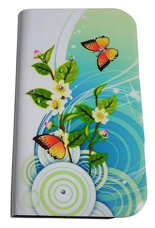 Capa Para Samsung Neo Gt-i9063 ( Abre E Fecha ) Case Floral