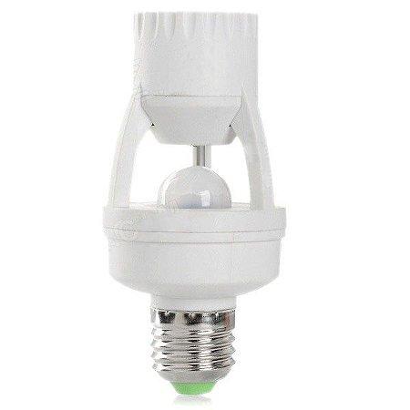 Bocal com Sensor De Presença Soquete Para Lampada E27 Infra-vermelho