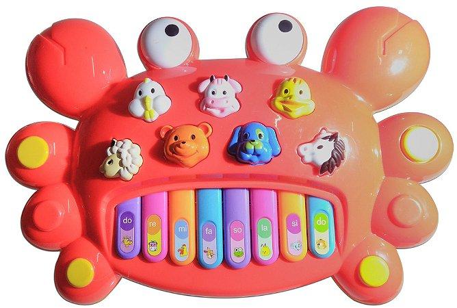 Piano Infantil Caranguejo Musical Teclado Toca Música Crab