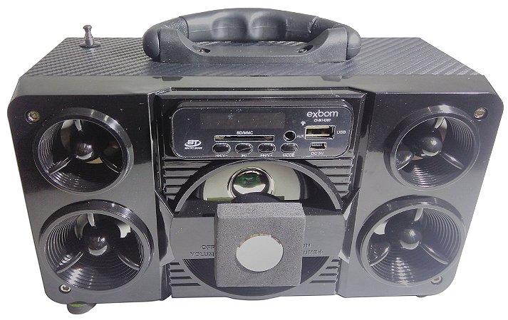 Caixa De Som Portátil Bluetooth Mobile Speaker System Exbom