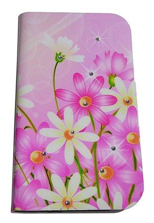 Capa Pra Samsung Galaxy Core G3502 (abre E Fecha) case Floral