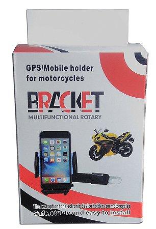 Suporte De Gps Pra Moto Bicicleta Celular Iphone Bracket
