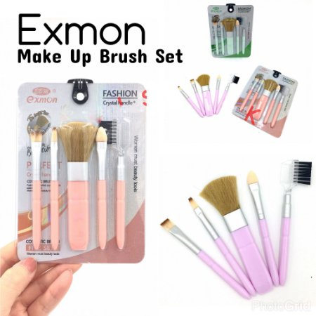 Kit De Pincel Para Maquiagem 5 Pcs Brush Fashion Exmon Ebm