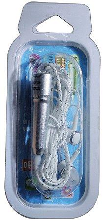 Mini Microfone Com Fone Para Celular Lapela Stereo P2