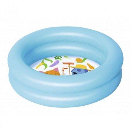 Piscina Inflável Kiddie 2 Anéis 21L 61cm X 15cm Azul
