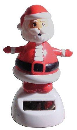 Boneco Papai Noel Natal Brinquedo Que Dança Com Luz Solar