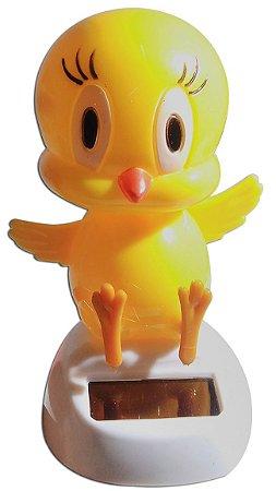 Boneco Pássaro Piu Piu Brinquedo Que Dança Com Luz Solar