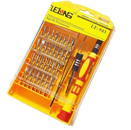 Kit Ferramentas Chaves 33 Pçs Manutenção Celular Tablet