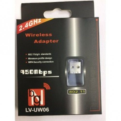 Adaptador Wireless Pra Usb 2.0 Wifi 950 Mbps Lv-uw06 Sem Fio