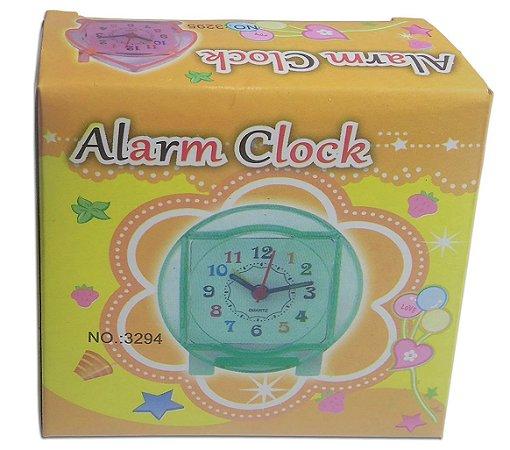 Relógio Analógico De Mesa Ponteiro Com Despertador Alarm
