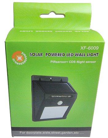 Luminária Solar De Parede 20 Leds Com Sensor De Movimento XF-6009