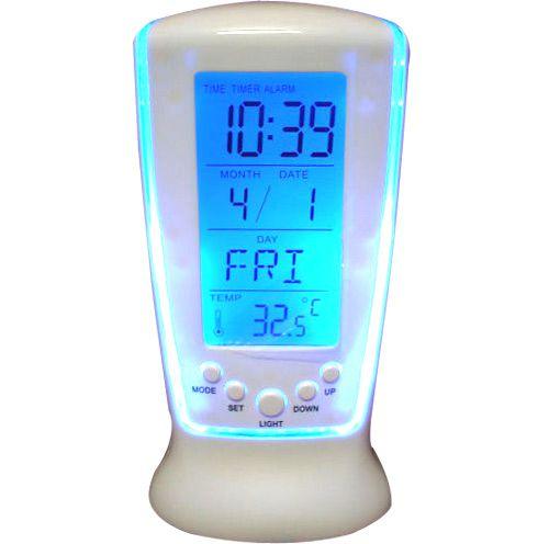 Relógio De Mesa Digital Relógio Square Clock Hl510