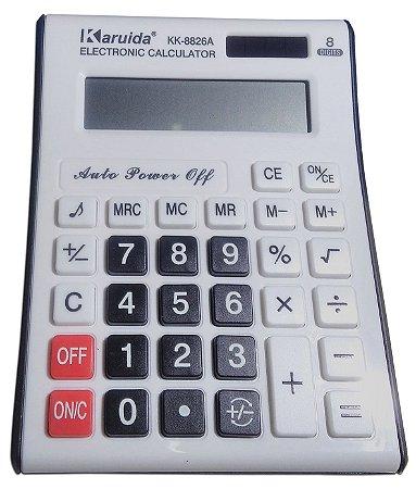 Calculadora Eletronica De Mesa Karuida 8 Digitos Kk-8826A