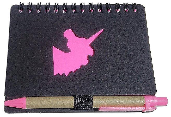Mini Caderno Diário Com Pauta + Caneta Bloco de nota 70 Folhas 13cm X 10cm