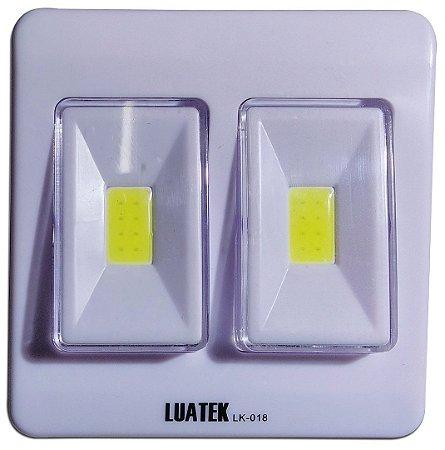 Luminária De Parede Interno/externo Led Cob 2 Interruptores