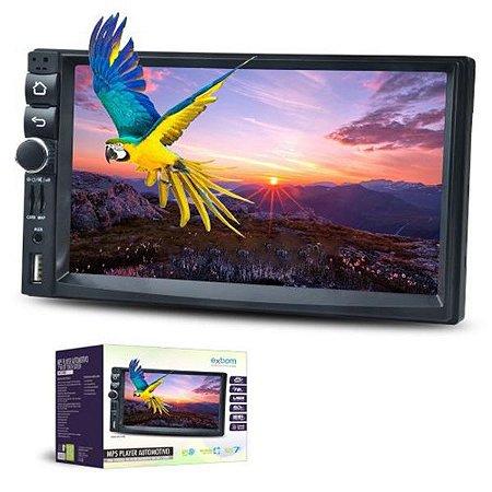 Central Multimídia 7'' Mp5 Espelhamento Bluetooth Fm Xbom Com GPS