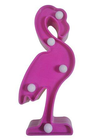 Luminária de decoração unicórnio flamingo e cactus led bateria