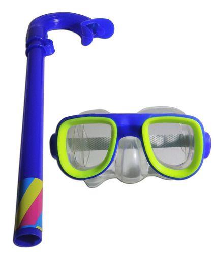 Kit De Mergulho Infantil Óculos Respirador Swim Feilang