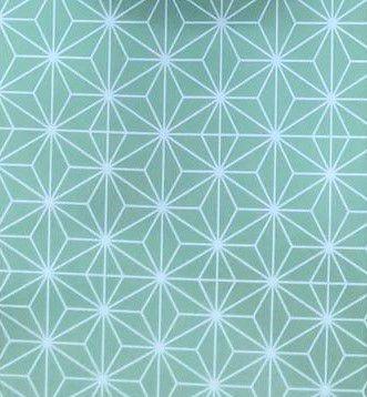 Papel de Parede Verde riscado em Branco