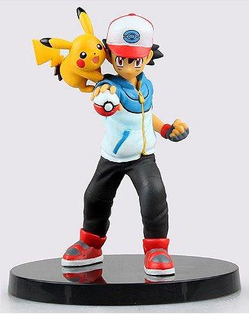 Action Figure Ash Ketchun e Pikachu - Pokémon