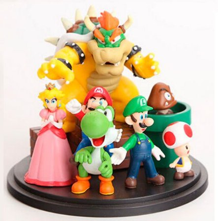 Action Figure Turma Super Mario Bros
