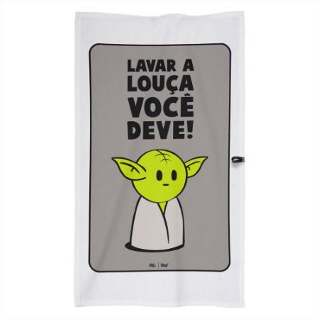 Pano de Prato Mestre Yoda - Star Wars