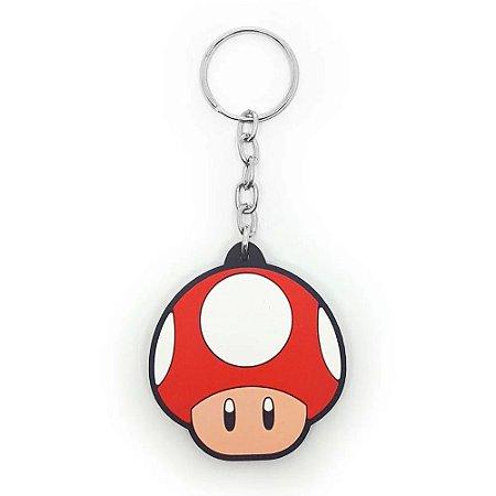 Chaveiro Cogumelo Vermelho Grow UP - Super Mario Bros