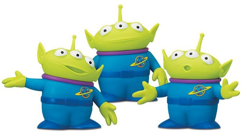 Kit 3 Action Figures Space Aliens - Toy Story