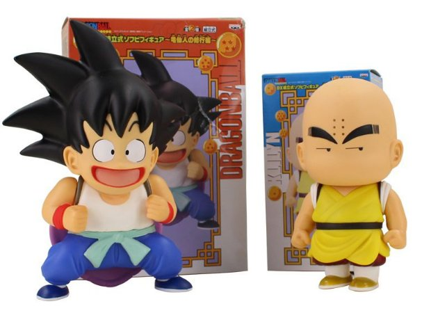 Kit 2 Action Figures Goku e Kuririn - Dragon Ball