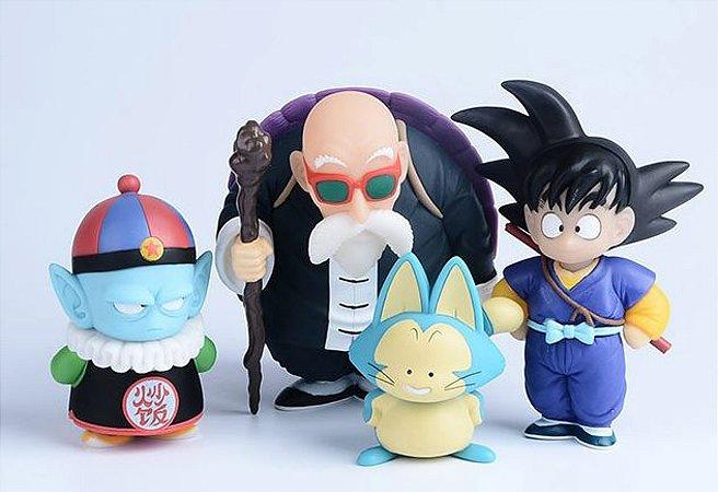 Kit 4 Action Figures Goku, Mestre Kame, Pilaf e Pual - Dragon Ball