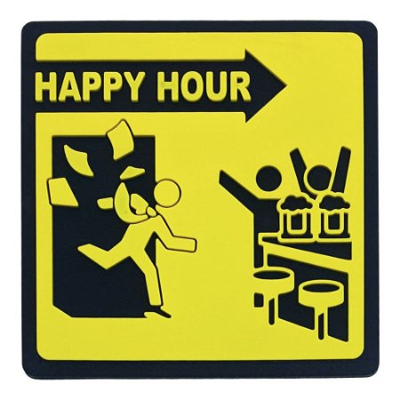 Porta-Copo de Borracha Happy Hour