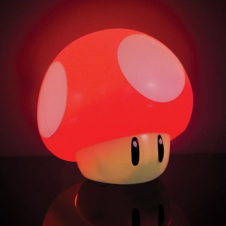 Luminária Com Som Mushroom Light Paladone - Super Mario Bros