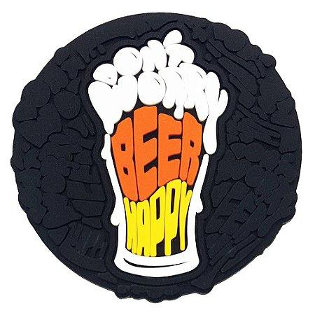 Porta-Copo de Borracha Don't Worry Beer Happy