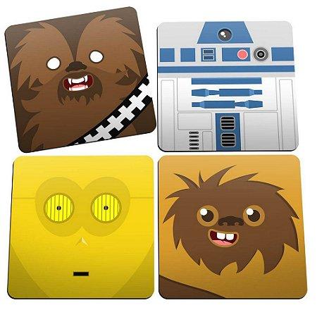 Porta-Copos Conjunto 4 Peças Star Wars