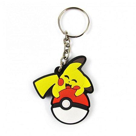Chaveiro Pikachu Pokébola - Pokémon