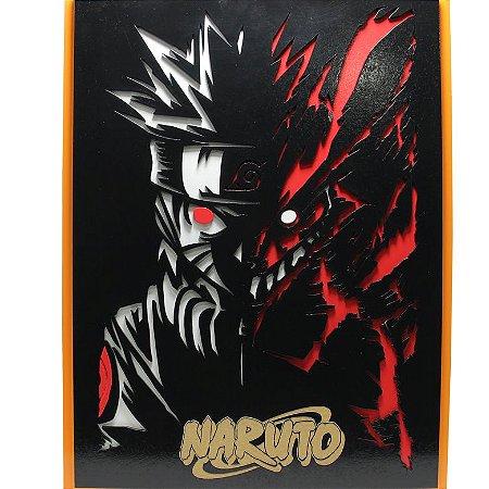 Quadro em Relevo Naruto Uzumaki - Naruto Shippuden