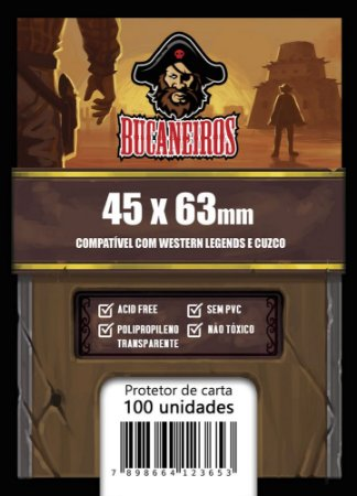 Sleeve FIT Customizado Western Legends / Cuzco (45 x 63 mm) Bucaneiros